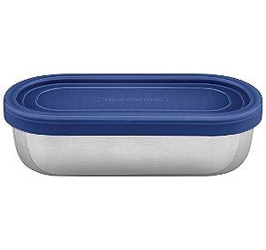 Pote para Alimentos Inox Tampa Plastica Freezinox Tramontina 16 Cm