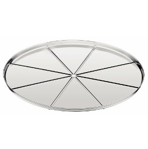 Forma para Pizza com Vincos em Aco Inox Service Tramontina 30 Cm