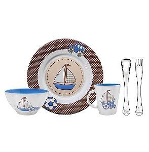 Kit para Refeicao Azul 5 Pecas Le Petit Tramontina