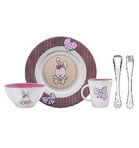 Kit para Refeicao Rosa 5 Pecas Le Petit Tramontina