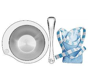Kit para Refeicao Azul 3 Pecas em Aco Inox Le Petit Tramontina Inox