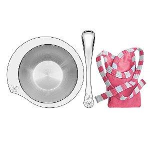 Kit para Refeicao Rosa 3 Pecas em Aco Inox Le Petit Tramontina Inox