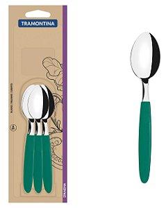 Conjunto de Colheres para Cha 6 Pecas em Aco Inox Ipanema Tramontina Verde