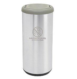 Lixeira Basculante em Aco Inox Capsula Selecta Plus Tramontina 31 Cm 40 Lt