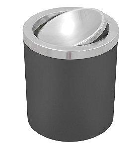 Lixeira Basculante em Aco Inox Tramontina 18 Cm 5.0 Lt