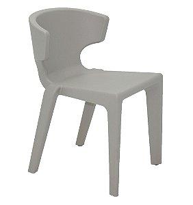 Cadeira Marilyn em Polietileno Sem Bracos Casa Delta Tramontina Cinza 75 Cm