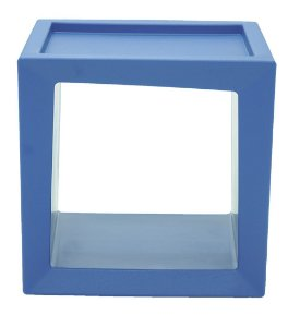 Estante Modular Quadrada em Polietileno Casa Delta Tramontina Azul 51 Cm