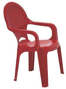 Cadeira Infantil em Polipropileno Tiquetaque Tramontina Vermelho 37 Cm