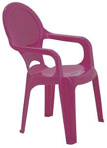 Cadeira Infantil em Polipropileno Tiquetaque Tramontina Rosa 37 Cm