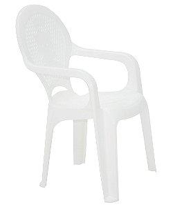 Cadeira Infantil em Polipropileno Tiquetaque Tramontina Branco 36 Cm
