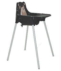 Cadeira para Refeicao Teddy Tramontina Preto 59 Cm