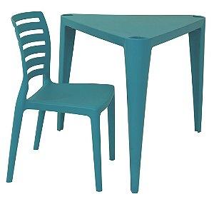 Mesa e Cadeira Infantil Sofia Tramontina Azul 63 Cm