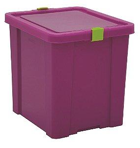 Caixa Organizadora Kids 42l Tramontina Rosa 40 Cm
