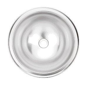 Lavabo Redondo Inox Acetinado Perfecta Tramontina 30 Cm