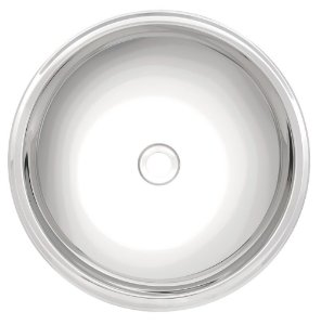 Lavabo Redondo Inox Alto Brilho Perfecta Tramontina 30 Cm