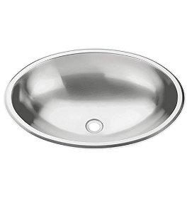 Lavabo Oval Inox Alto Brilho Perfecta Tramontina 36 Cm