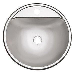 Lavabo Semicirculo Inox Acetinado Perfecta Tramontina 34 Cm