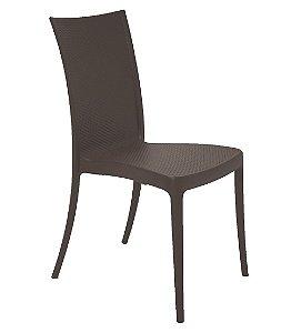 Cadeira em Polipropileno Summa Tramontina Marrom 88 Cm