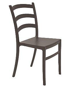Cadeira Sem Bracos em Polipropileno Summa Tramontina Marrom 50 Cm