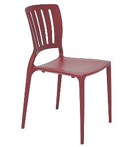 Cadeira em Polipropileno Encosto Vazado Summa Tramontina Marsalla 82 Cm