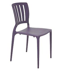 Cadeira em Polipropileno Encosto Vazado Summa Tramontina Lilas 82 Cm