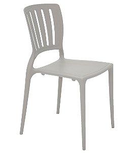 Cadeira em Polipropileno Encosto Vazado Summa Tramontina Cinza 82 Cm
