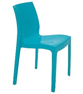 Cadeira Sem Bracos em Polipropileno Summa Tramontina Azul 80 Cm