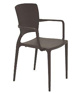 Cadeira em Polipropileno Summa Tramontina Marrom 84 Cm