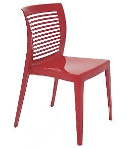 Cadeira em Polipropileno Encosto Vazado Summa Tramontina Vermelho 82 Cm