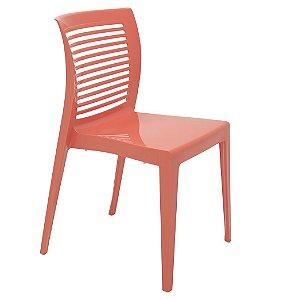 Cadeira em Polipropileno Encosto Vazado Summa Tramontina Coral 83 Cm