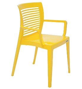 Cadeira em Polipropileno Encosto Vazado Summa Tramontina Amarelo 83 Cm