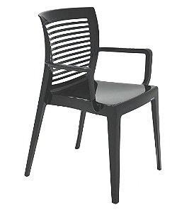 Cadeira em Polipropileno Encosto Vazado Summa Tramontina Preto 83 Cm