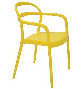 Cadeira em Polipropileno Summa Tramontina Amarelo 79 Cm