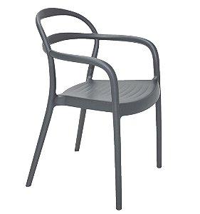 Cadeira em Polipropileno Summa Tramontina Grafite 79 Cm