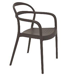 Cadeira em Polipropileno Summa Tramontina Marrom 79 Cm