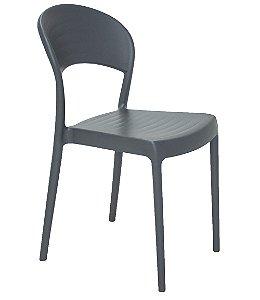 Cadeira Sem Bracos em Polipropileno Summa Tramontina Grafite 80 Cm