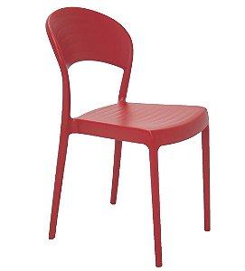 Cadeira Sem Bracos em Polipropileno Summa Tramontina Vermelho 80 Cm