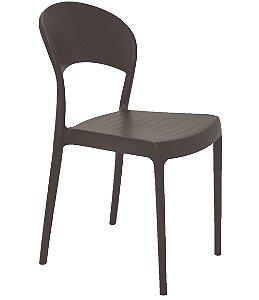 Cadeira Sem Bracos em Polipropileno Summa Tramontina Marrom 80 Cm