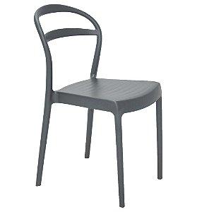 Cadeira em Polipropileno Encosto Vazado Summa Tramontina Grafite 80 Cm