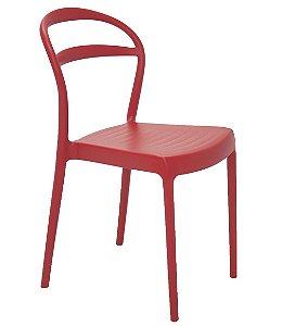 Cadeira em Polipropileno Encosto Vazado Summa Tramontina Vermelho 80 Cm
