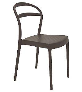 Cadeira em Polipropileno Encosto Vazado Summa Tramontina Marrom 80 Cm