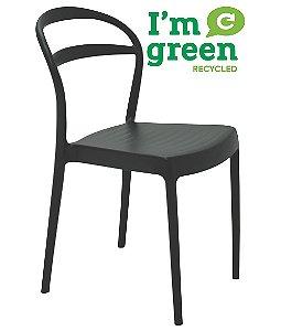 Cadeira em Polipropileno Eco Encosto Vazado Summa Tramontina Preto 80 Cm