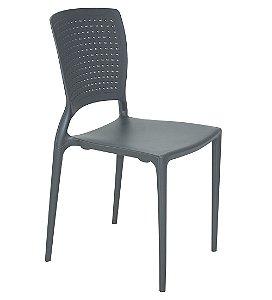 Cadeira Sem Bracos em Polipropileno Summa Tramontina Grafite 84 Cm