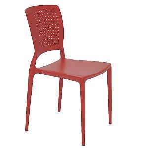 Cadeira Sem Bracos em Polipropileno Summa Tramontina Vermelho 84 Cm