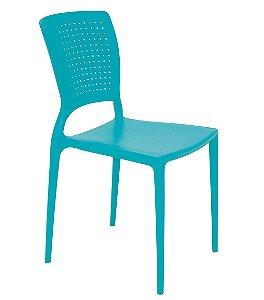 Cadeira Sem Bracos em Polipropileno Summa Tramontina Azul 84 Cm