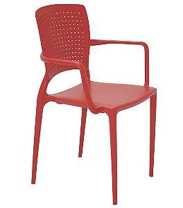 Cadeira em Polipropileno Summa Tramontina Vermelho 84 Cm