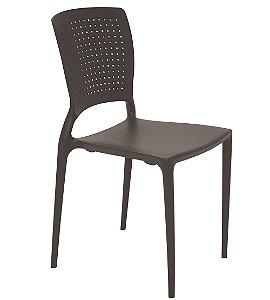 Cadeira Sem Bracos em Polipropileno Summa Tramontina Marrom 84 Cm
