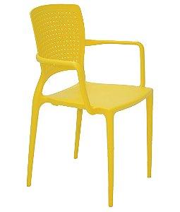 Cadeira em Polipropileno Summa Tramontina Amarelo 84 Cm