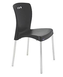 Cadeira Sem Bracos e Pernas Polidas Summa Tramontina Preto 88 Cm