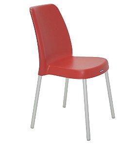 Cadeira em Polipropileno Pernas Anodizadas Summa Tramontina Vermelho 52 Cm